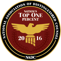 National Association of Distinguished Counsel - Nation's Top 1 Percent - 2016 - NADC